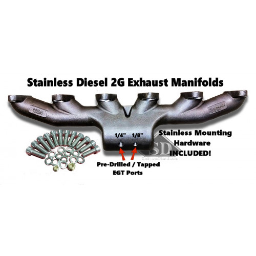 T-4  12 Valve Stainless Diesel Exhaust Manifold