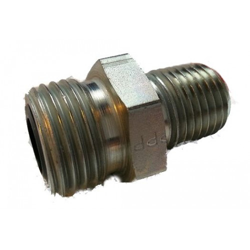 """~6 O-Ring Face Seal to 1/4"""" NPT Fitting (Stock oil line 24v/Common rail to 1/4npt adaptor)"""