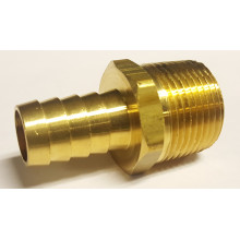 "Brass Hose fitting, connector, 5/8"" Barb, 3/4"" NPT"