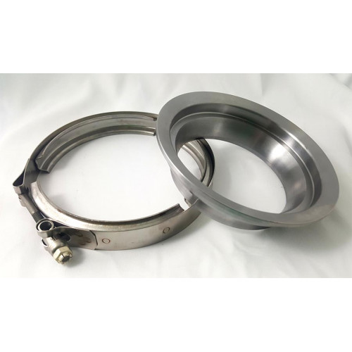BUNDLE * CNC T6 S400 / K31 Exhaust Outlet Flange to 4in pipe w/ clamp