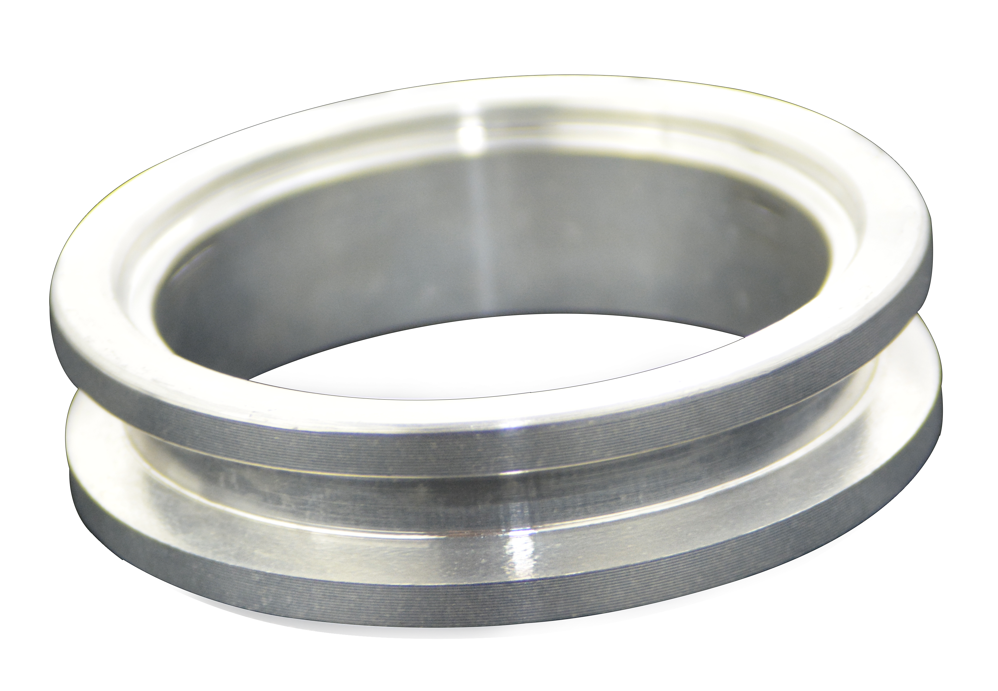 """3.00/"""" V-Band Clamp Flange Flanges Kit W// O-ring Aluminum For Turbo Pipe"""