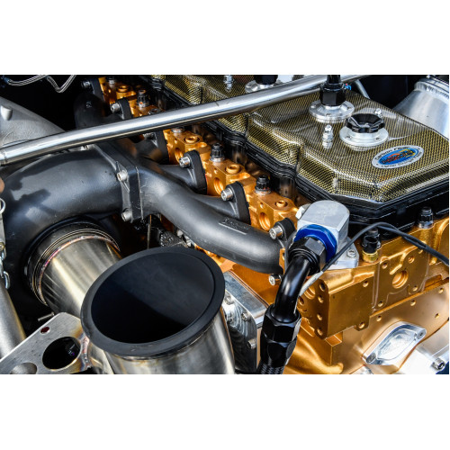 Competition T-6 24V 0* Stainless Diesel Exhaust Manifold