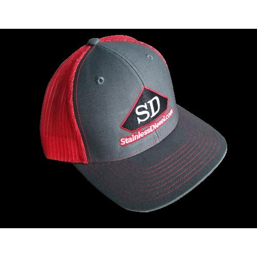 Mesh Grey/Red Hat