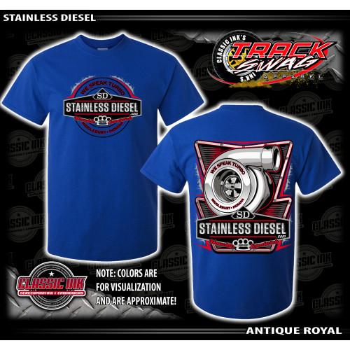Bright Blue Turbo Talk T-Shirt