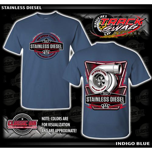 Greyish Blue Turbo Talk T-Shirt