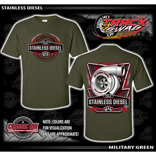Military Green Turbo Talk T-Shirt